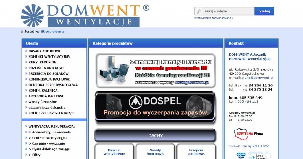 DOM-WENT – systemy wentylacji